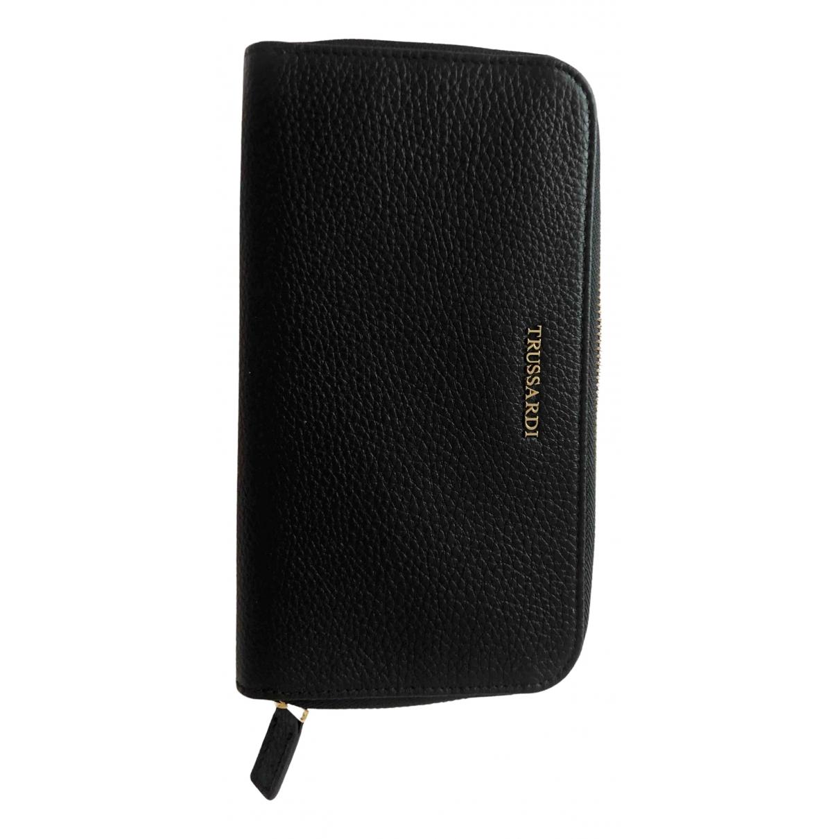 Trussardi - Portefeuille   pour femme en cuir - noir
