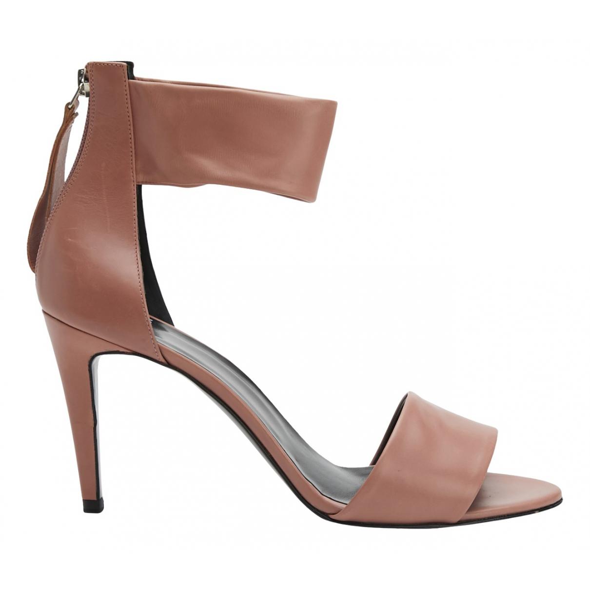Pierre Hardy - Sandales   pour femme en cuir - rose