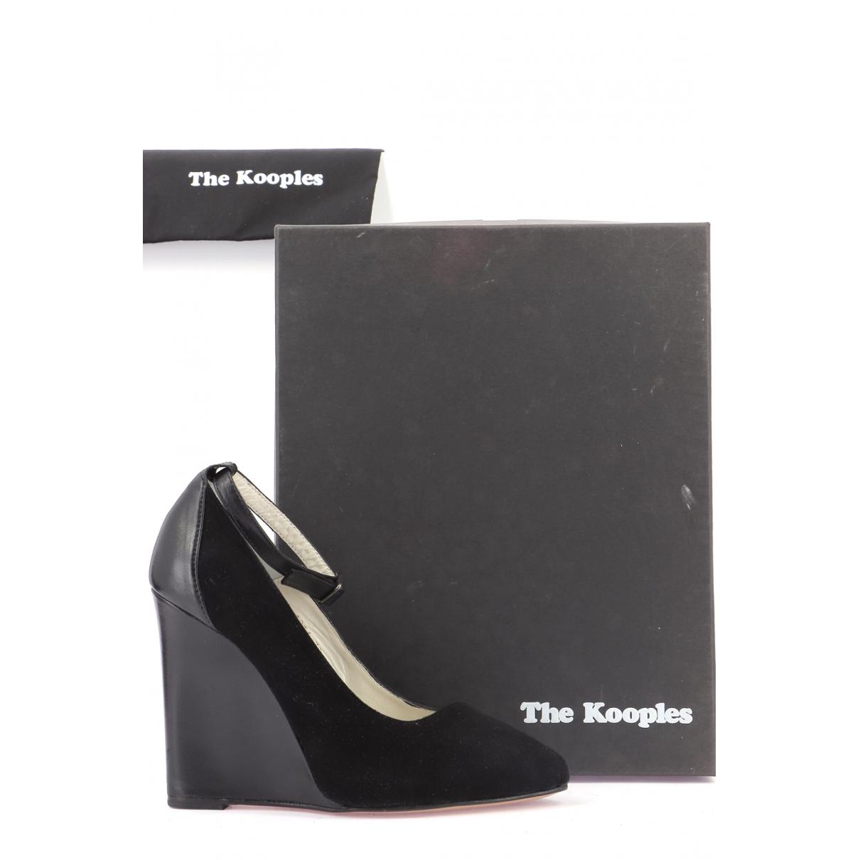 The Kooples - Escarpins   pour femme en cuir - noir