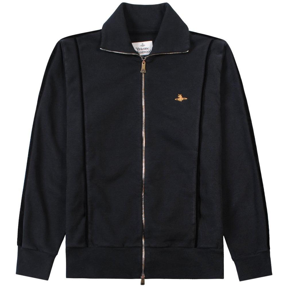 Vivienne Westwood Logo Zip-Up Tracksuit Top Colour: BLACK, Size: MEDIU