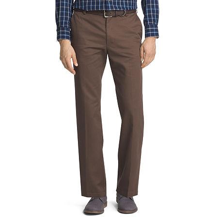 IZOD American Chino Mens Straight Fit, 36 29, Brown