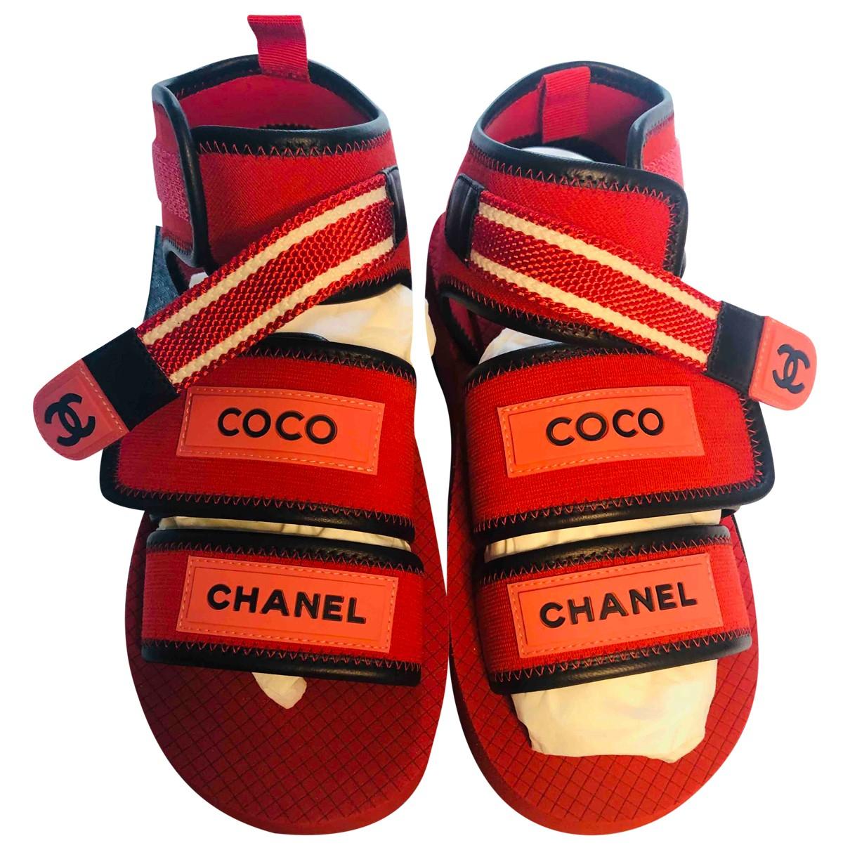 Sandalias Dad Sandals de Lona Chanel