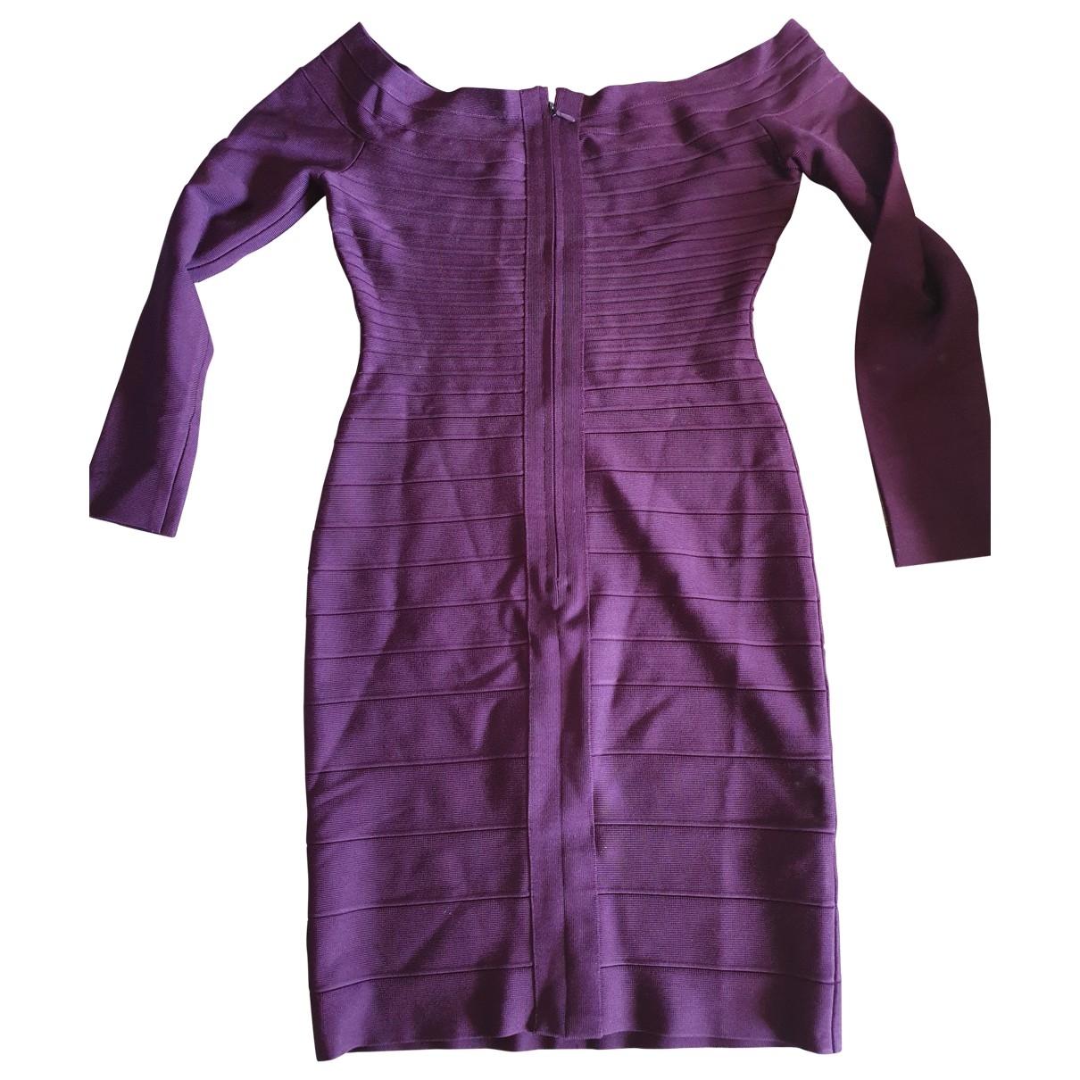 Herve Leger \N Kleid in  Lila Synthetik
