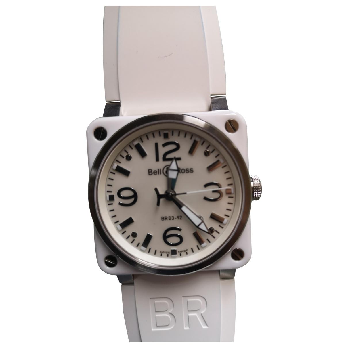 Bell & Ross - Montre BR03-92 pour homme en acier - blanc
