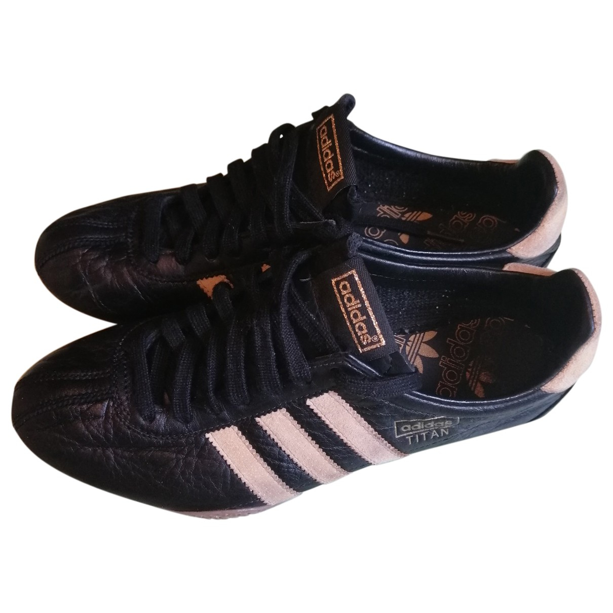 Adidas \N Black Leather Trainers for Men 40 EU