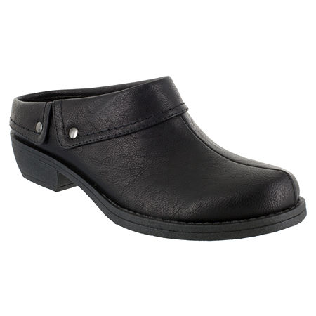 Easy Street Womens Becca Clogs, 8 Medium, Black
