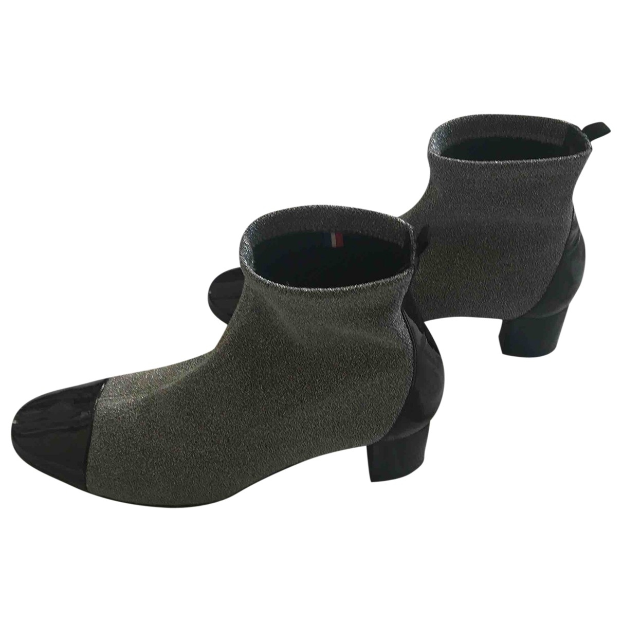 Non Signe / Unsigned \N Stiefeletten in  Silber Polyester