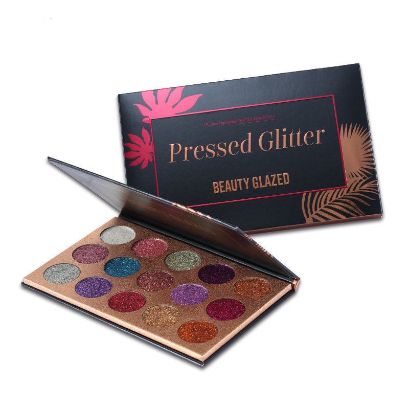 BEAUTY GLAZED Colorful Shimmer Eyeshadow Palette Long-lasting Eye Shadow Natural Makeup