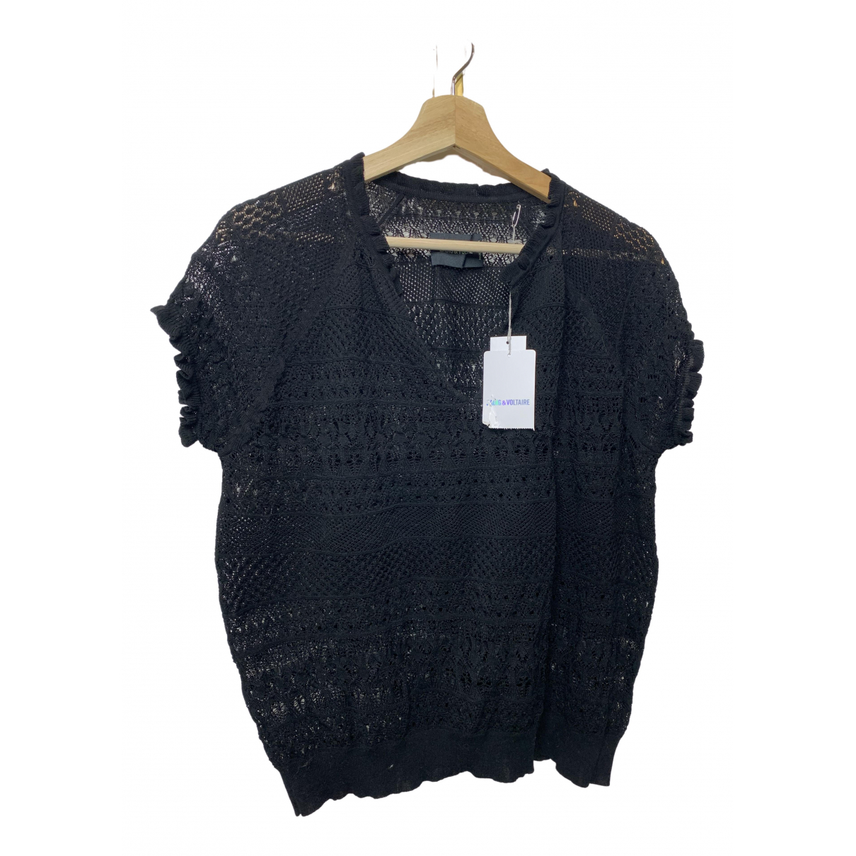 Zadig & Voltaire \N Black Cotton  top for Women M International