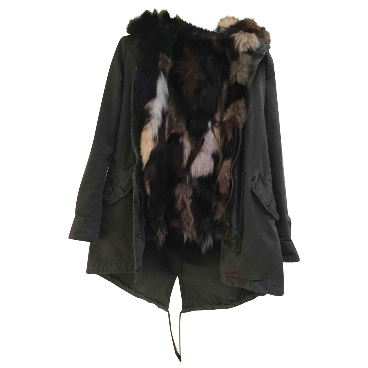 Beayukmui - Manteau   pour femme en coton - kaki