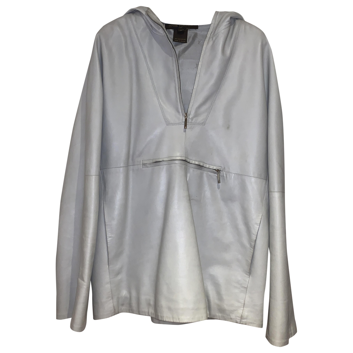 Louis Vuitton \N Grey Leather Leather jacket for Women 38 FR