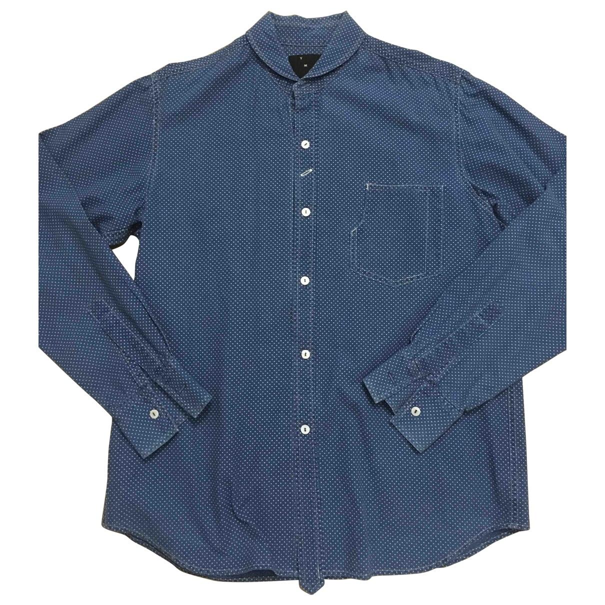 Ymc - Chemises   pour homme en coton - bleu