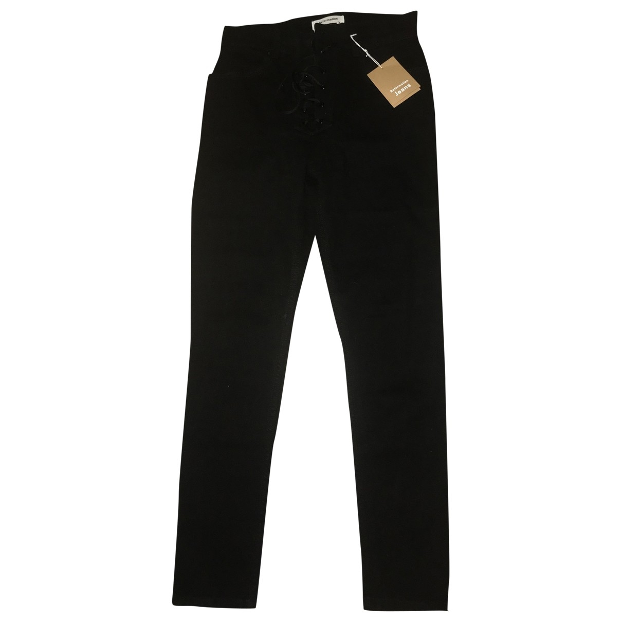 Reformation \N Black Denim - Jeans Jeans for Women 27 US