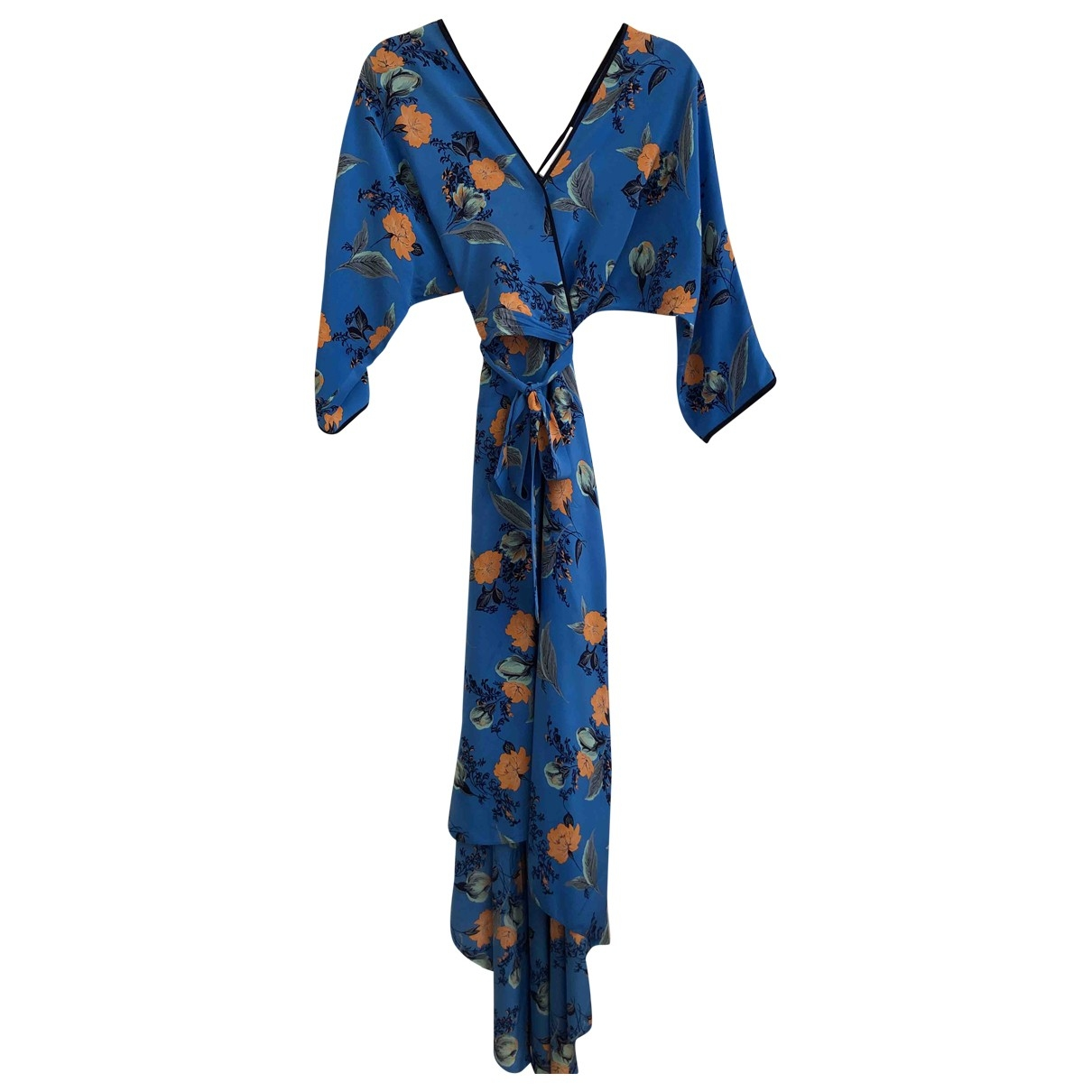 Diane Von Furstenberg \N Blue Silk dress for Women XS International