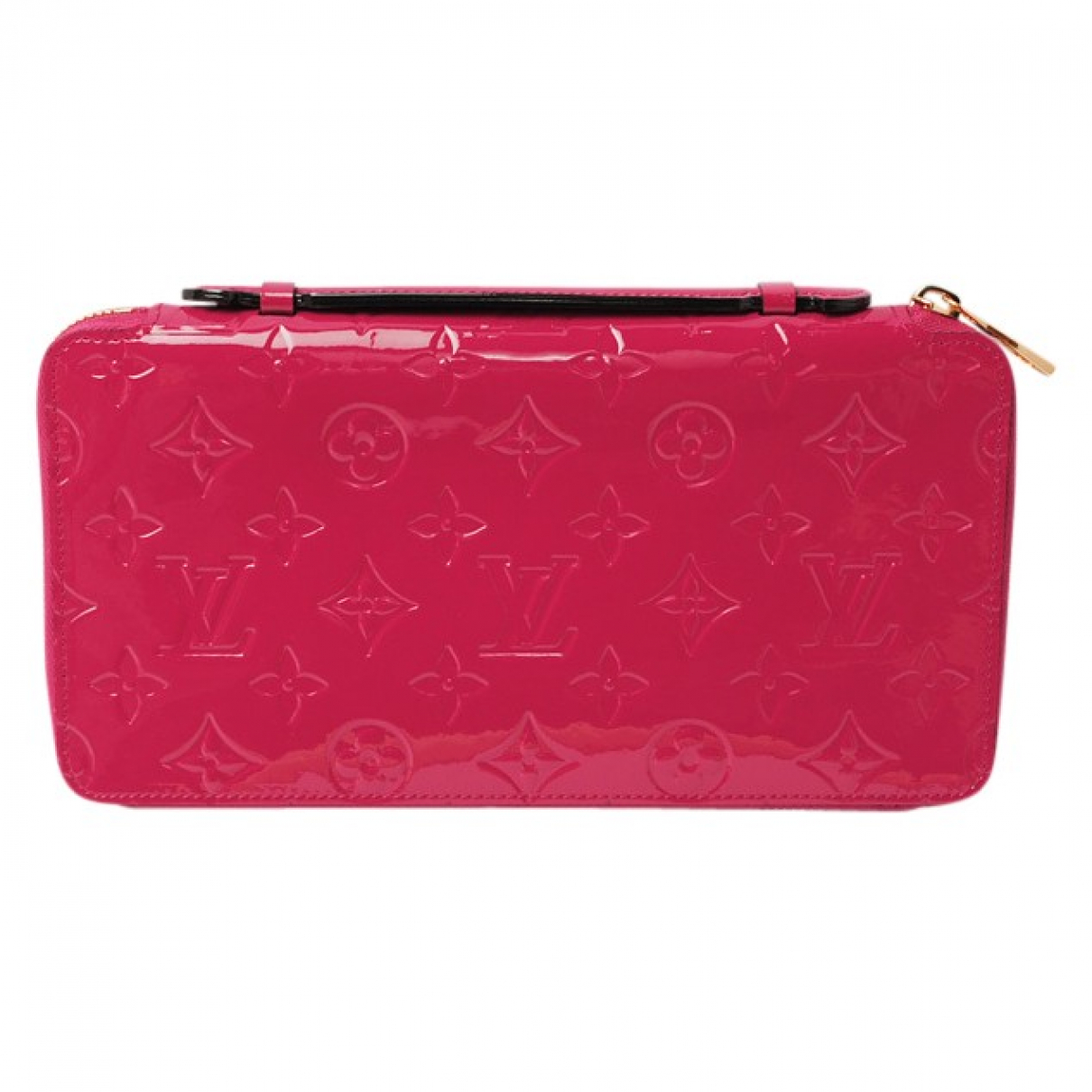 Louis Vuitton \N Portemonnaie in  Rot Lackleder