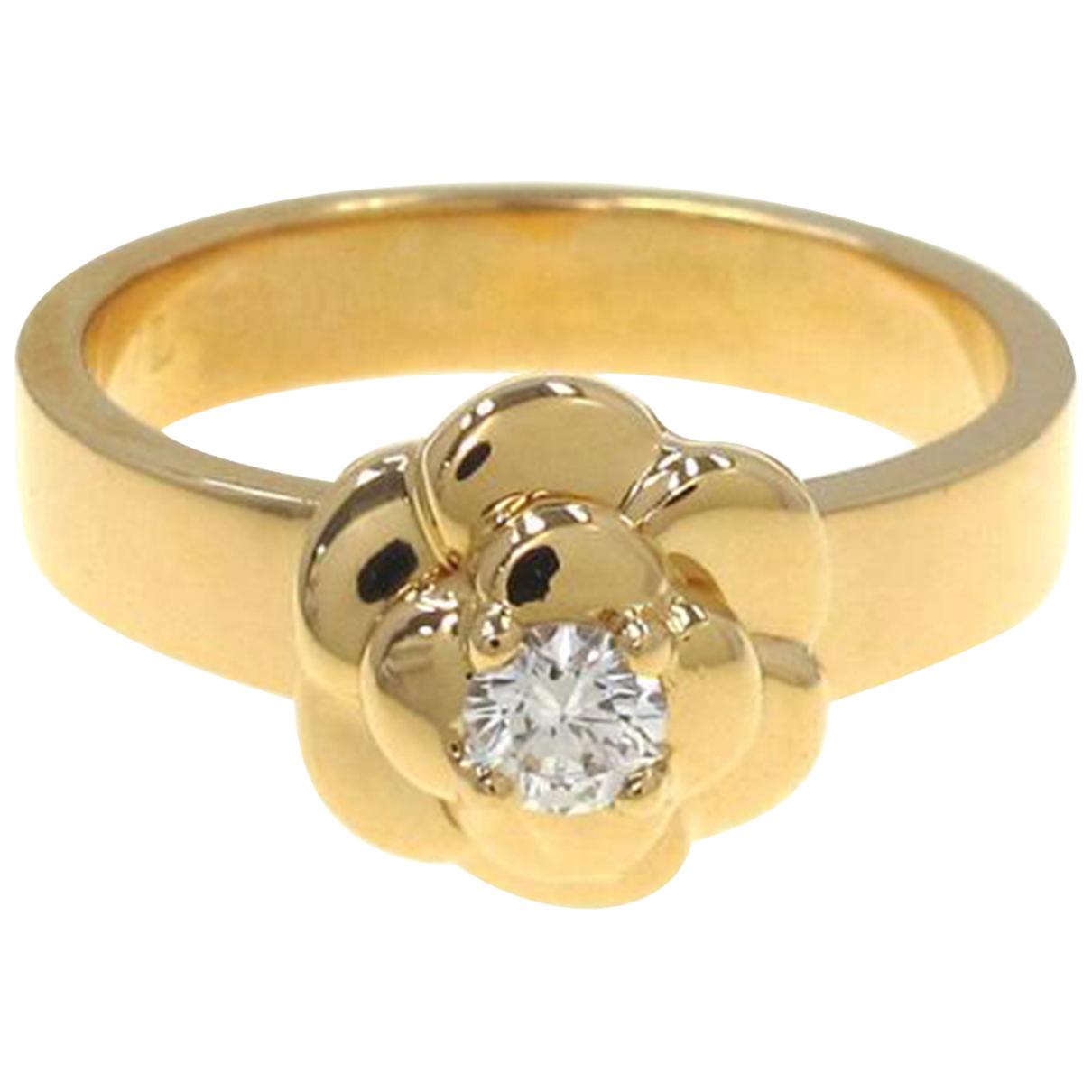 Chanel - Bague Camelia pour femme en or jaune