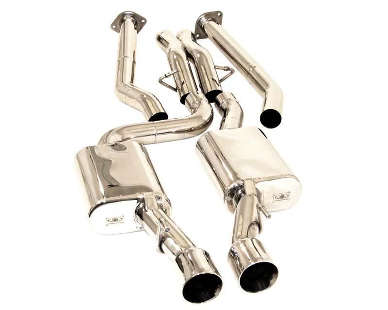 B&B Catback Exhaust System Twin 4 inch Round Double Wall Tips Jeep Grand Cherokee SRT-8 06-09