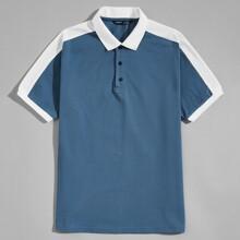 Polo Shirt mit Kontrast Einsatz