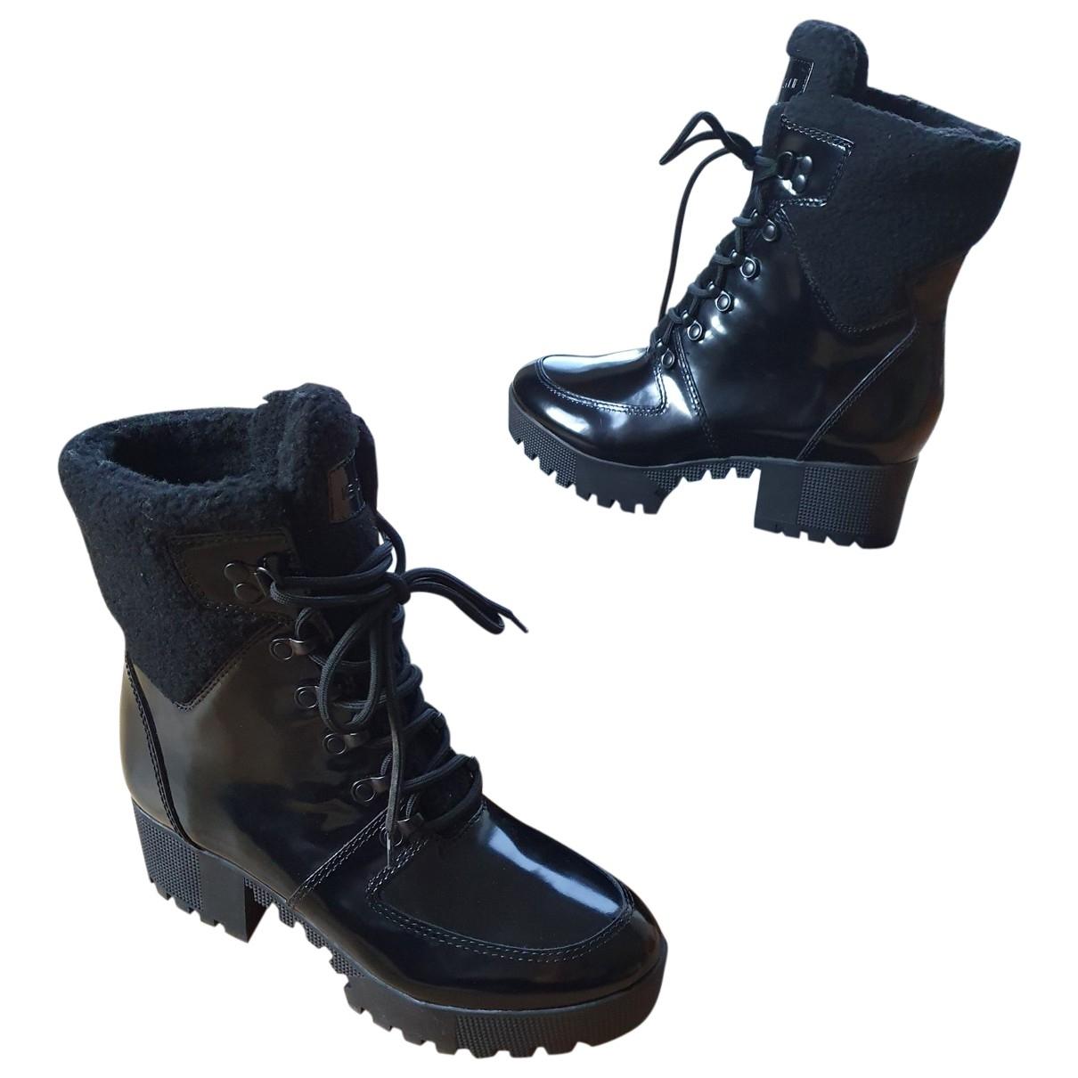 Kendall + Kylie - Boots   pour femme en cuir verni - noir