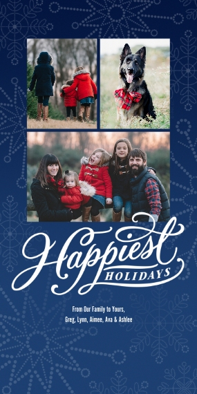 Christmas Photo Cards 4x8 Flat Card Set, 85lb, Card & Stationery -Happiest Holidays Photo Collage by Hallmark