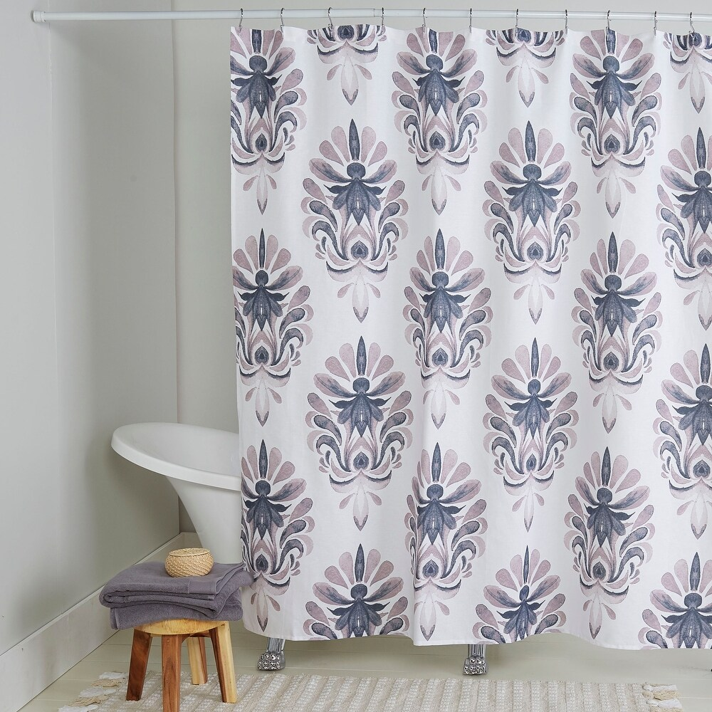 Nicole Miller Cotton Shower Curtain, Emery, 72