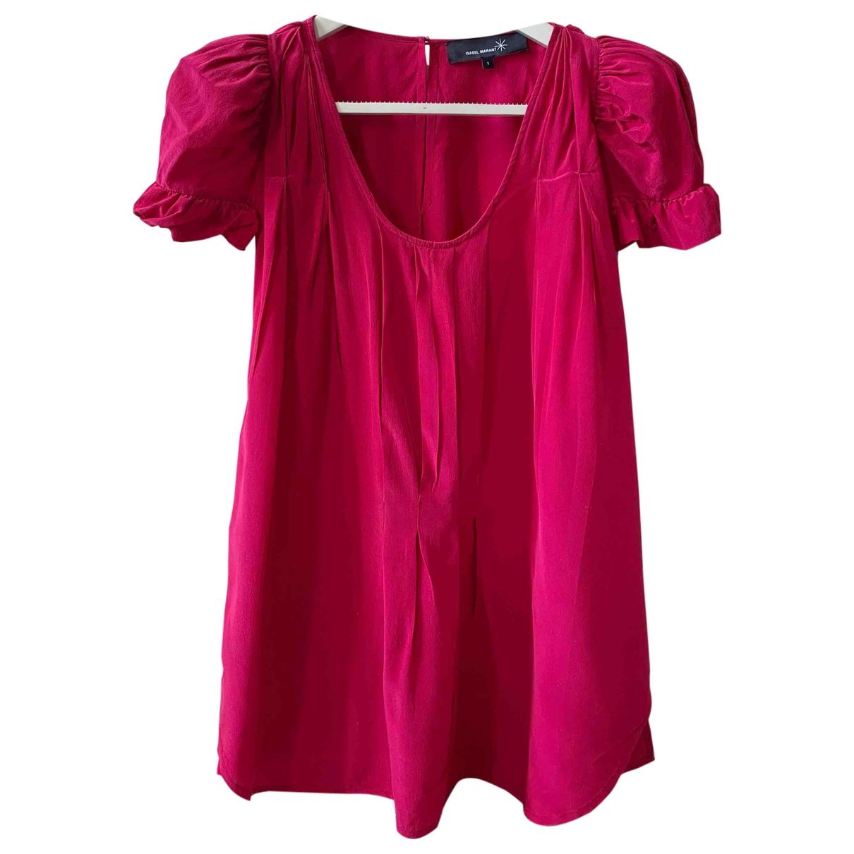 Isabel Marant - Top   pour femme en soie - rose