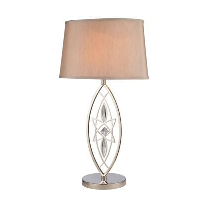D4213 Phaedra Table Lamp  In Polished Nickel  Clear