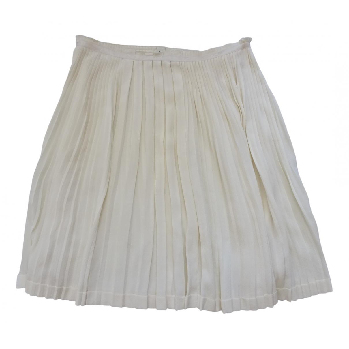Hermès \N Ecru Silk skirt for Women 40 FR