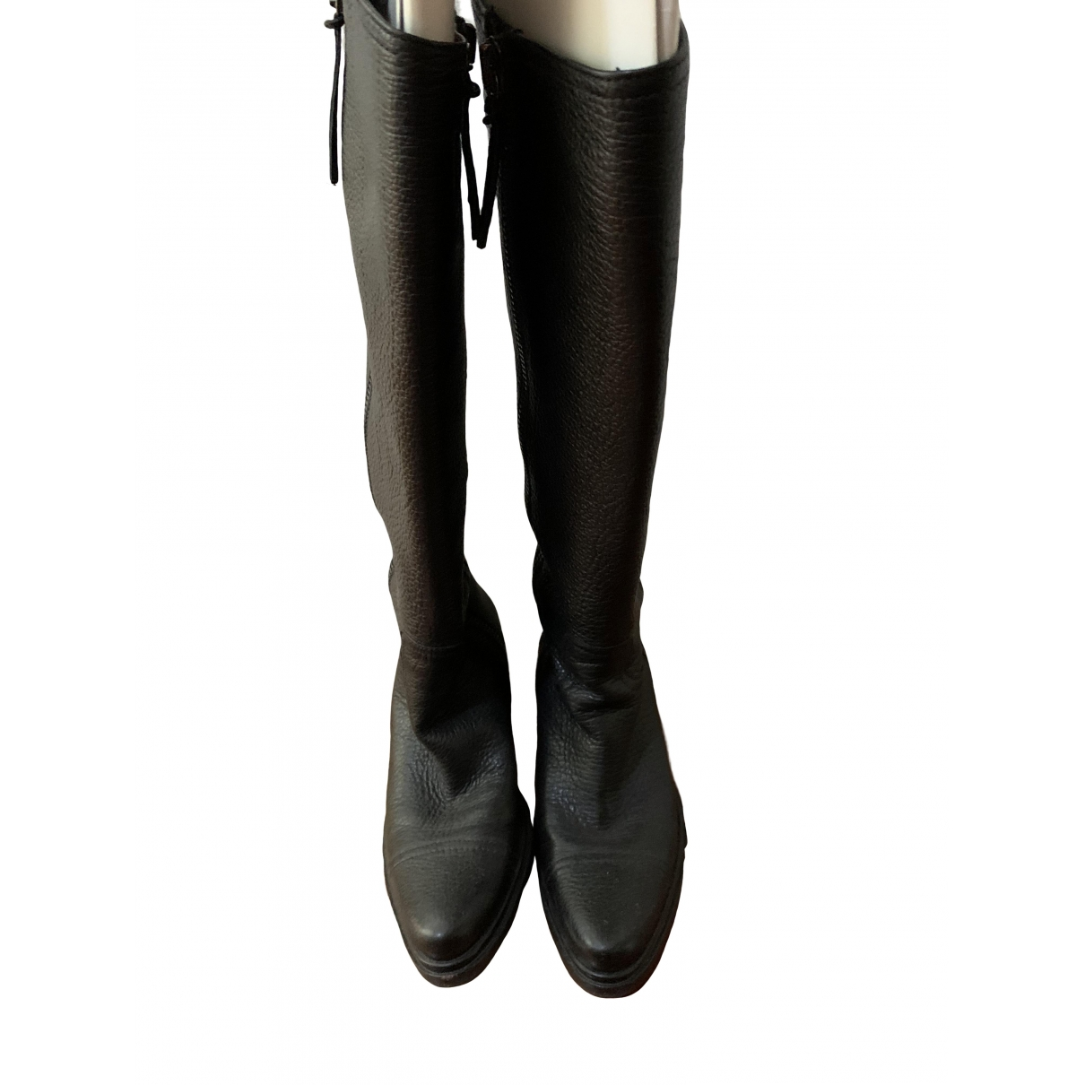 Miu Miu \N Black Leather Boots for Women 35 EU