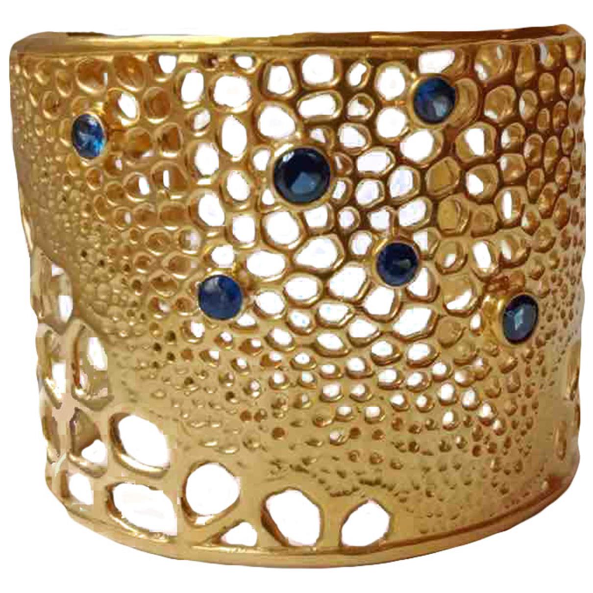 - Bracelet Manchette pour femme en argent - dore