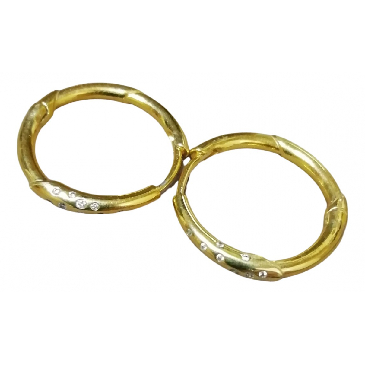Non Signe / Unsigned Creoles OhrRing in  Gold Silber