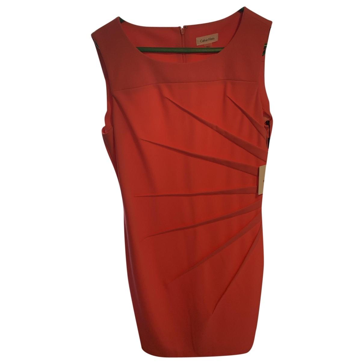Calvin Klein \N Kleid in  Rosa Polyester