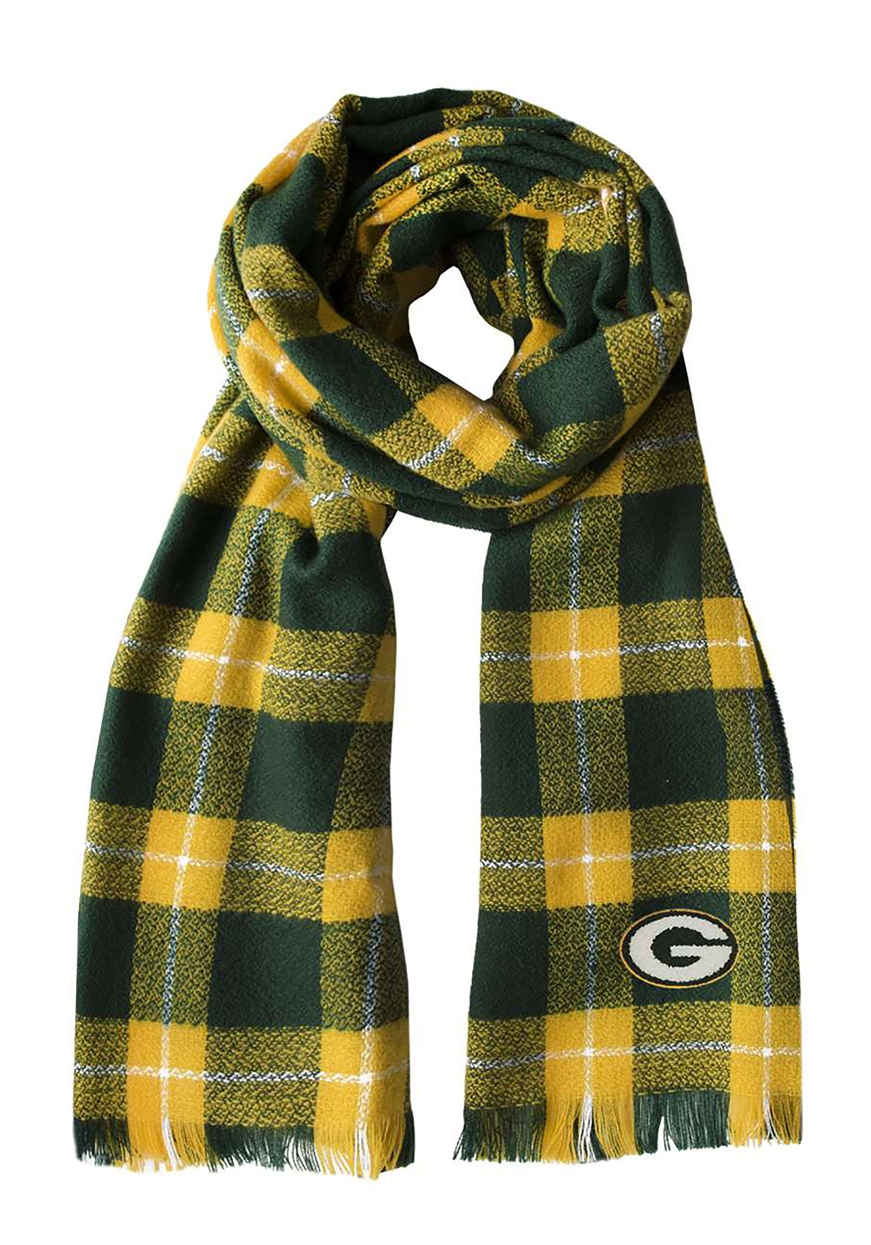 Comfy NFL Green Bay Packers Plaid Blanket Scarf