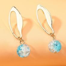Crystal Planet Drop Earrings