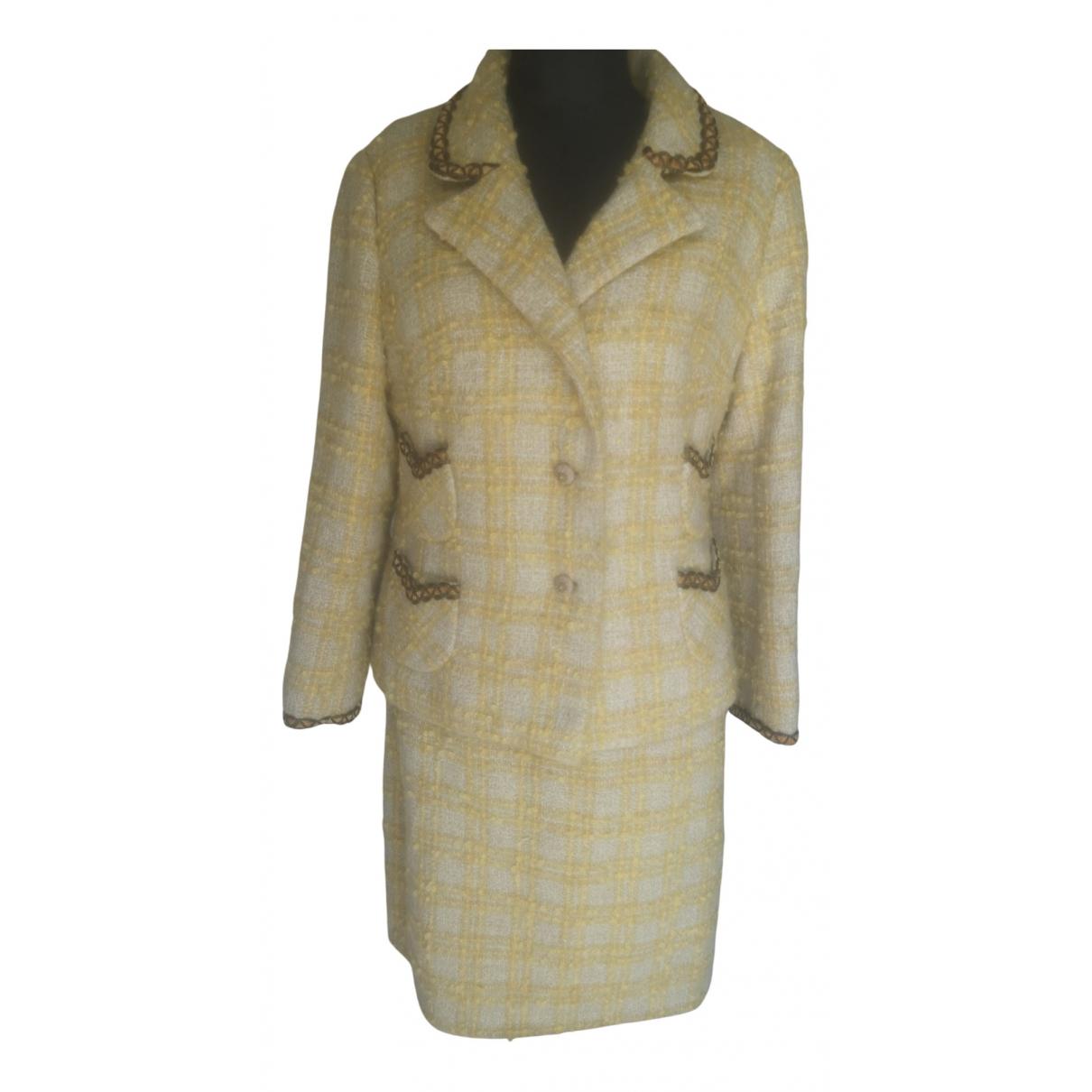 - Jupe   pour femme en laine - jaune