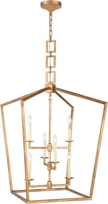 1512D24GI 1512 Denmark Collection Chandelier L:24In W:24In H:34.5In Lt:6 Golden Iron