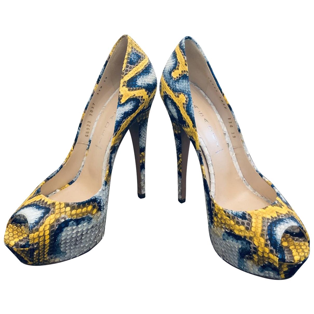 Casadei - Escarpins   pour femme en python - bleu