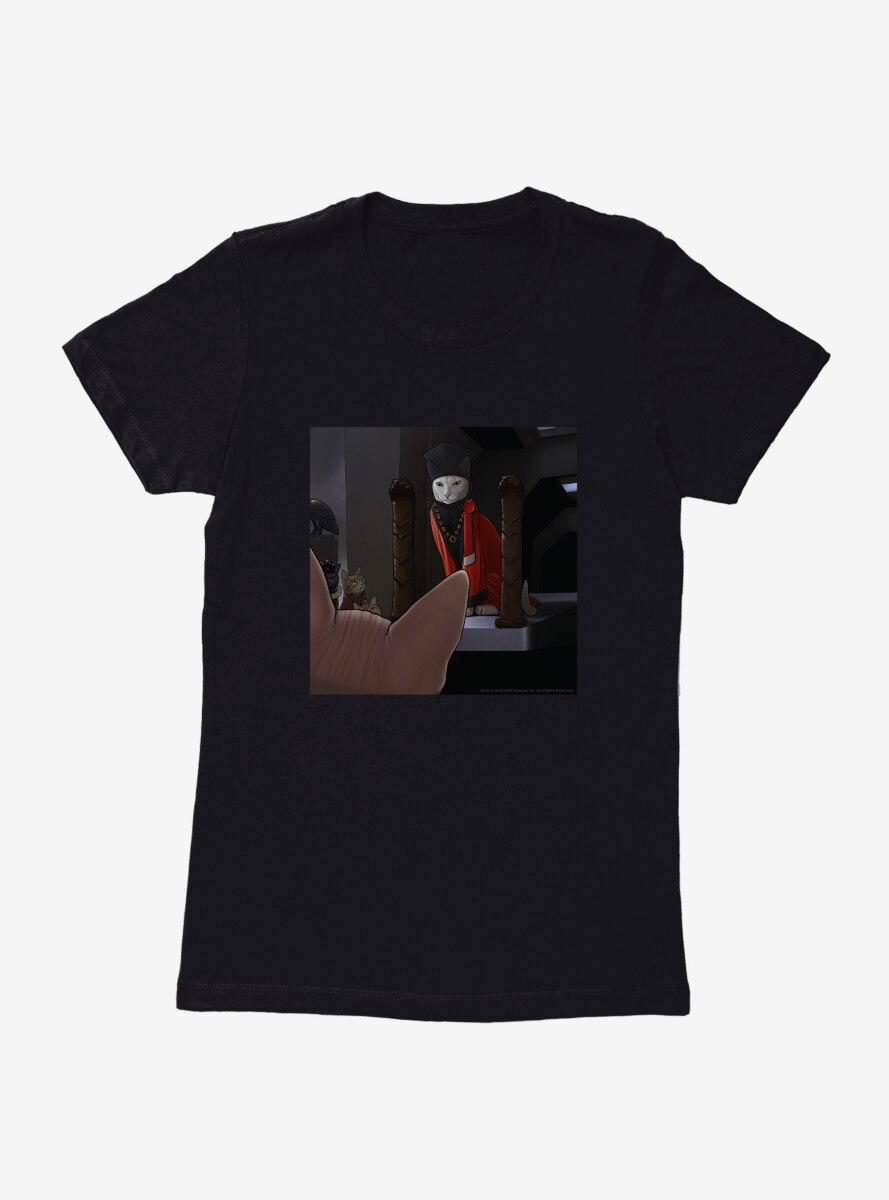 Star Trek The Next Generation Cats Q Judge Womens T-Shirt