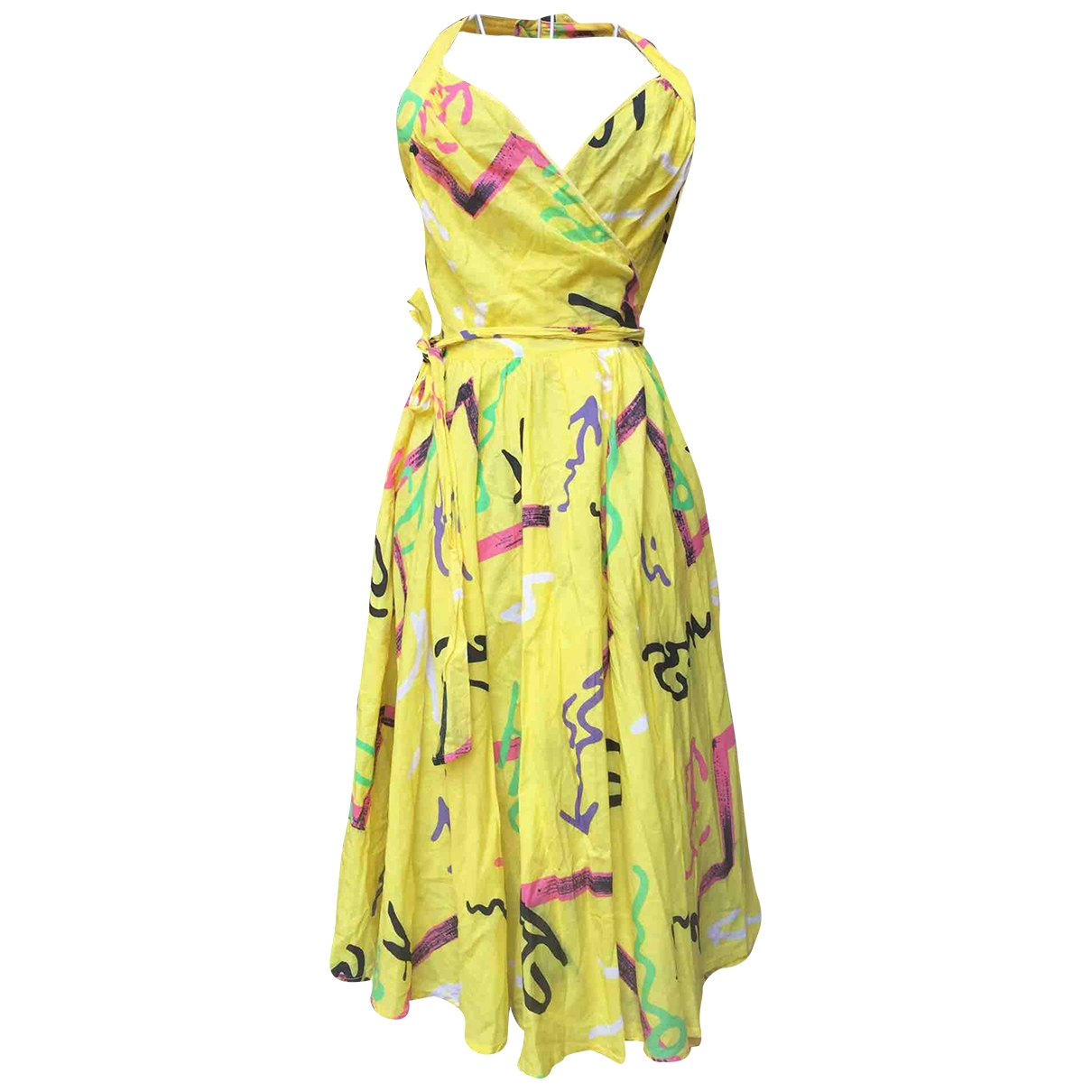 Non Signé / Unsigned \N Yellow Cotton dress for Women 44 IT