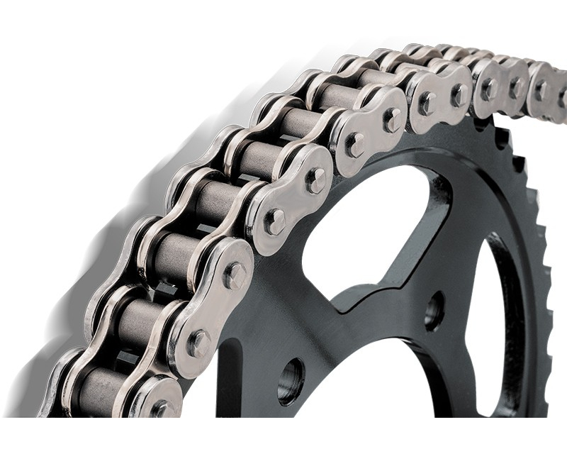 Bikemaster 428 x 102 Precision Roller Motorcycle Chain Natural Finish