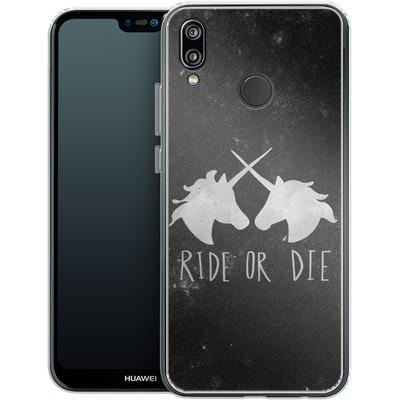 Huawei P20 Lite Silikon Handyhuelle - Ride or Die von Leah Flores