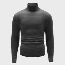Jersey de cuello alto tejido de canale