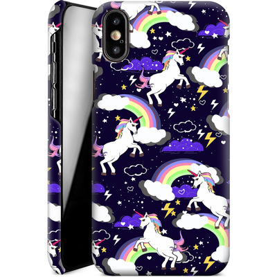 Apple iPhone X Smartphone Huelle - Unicorn Blue von Mukta Lata Barua