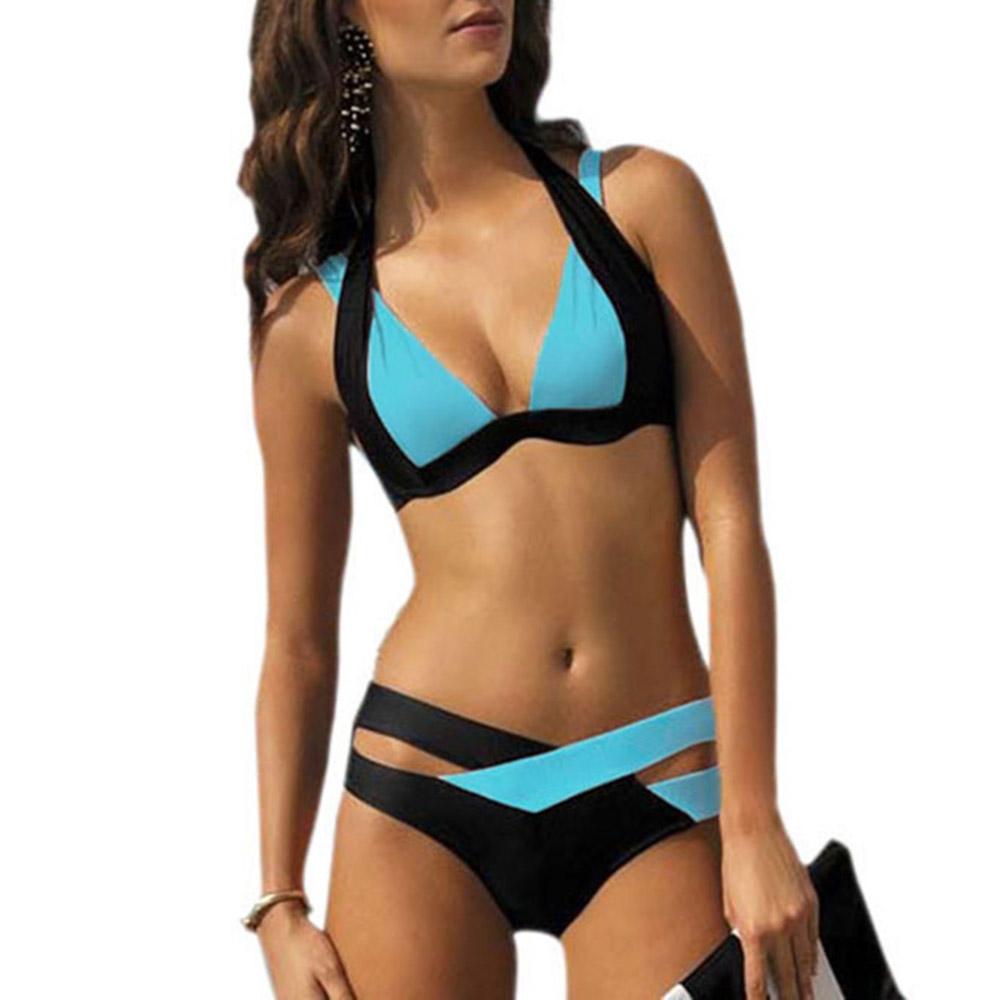 Women's Sexy Cutout Bottoms Wrap Bikini Bathing Suits