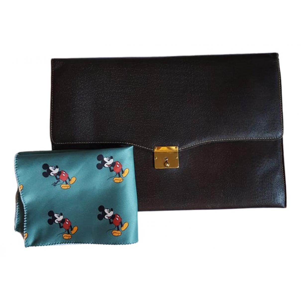 Gucci - Pochette   pour femme en cuir - noir