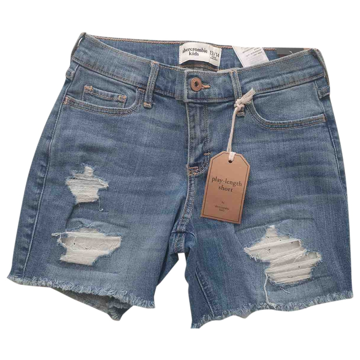 Abercrombie & Fitch \N Blue Denim - Jeans Shorts for Women XS International