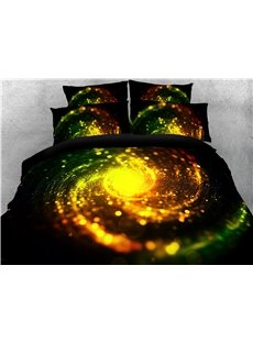 Golden Spiral Dreamy Galaxy Printing 4-Piece 3D Bedding Sets/Duvet Covers