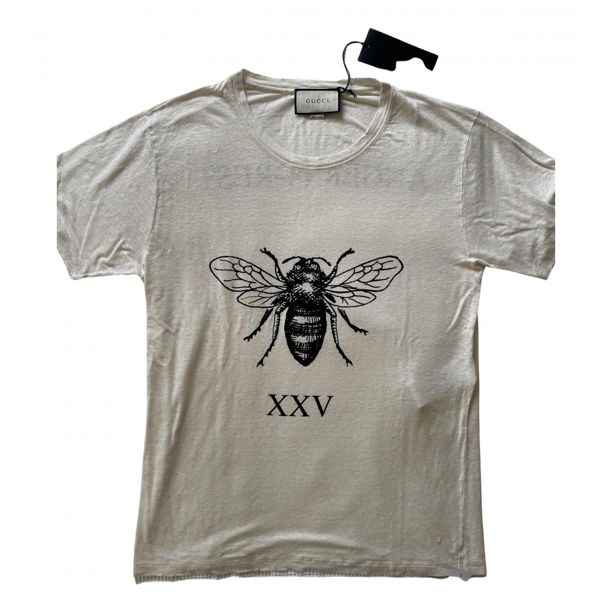 Gucci - Tee shirts   pour homme en lin - blanc
