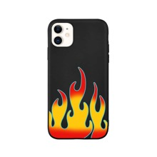 1pc Fire Pattern iPhone Case