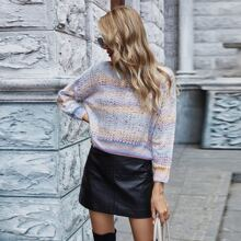 Ombre Drop Shoulder Sweater
